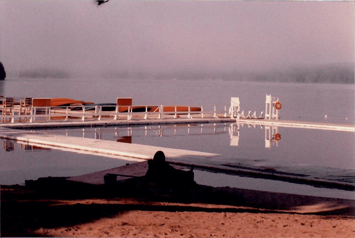 A foggy morning on Canoe Lake, Algonquin Park.